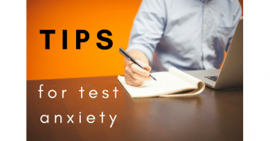 tips for test anxiety
