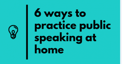 how to practice public speaking at home